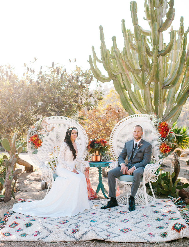Desert Wedding Inspiration at Old Cactus Garden in Balboa Park