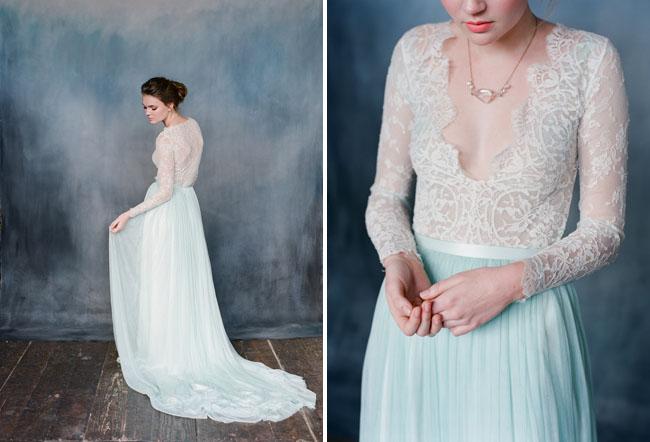 Váy cưới và vẻ mảnh mai của cô dâu