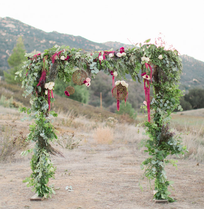 Marsala Flower Arch