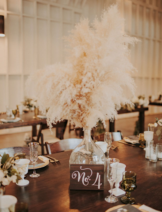 pampas grass centerpiece