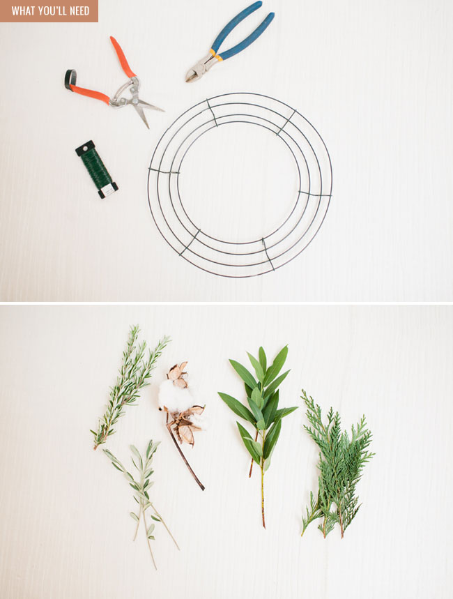 DIY Copper + Cotton Wreath