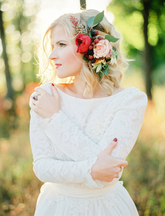 Marsala Floral Hair Piece
