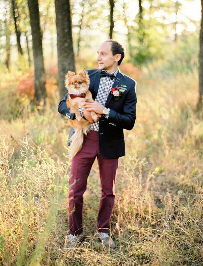 groom with pup