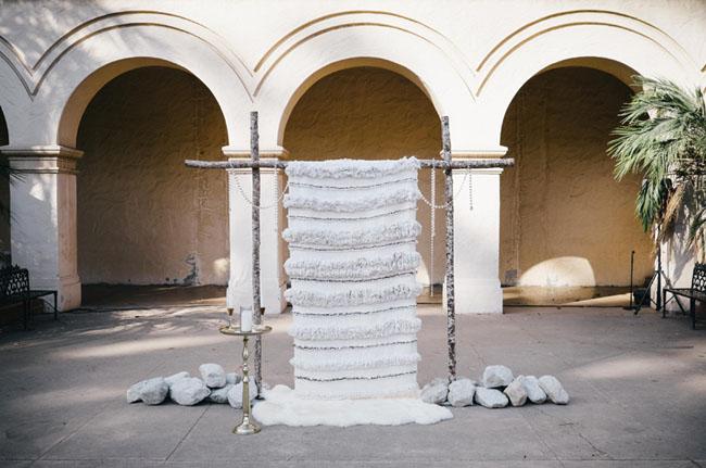 wedding blanket backdrop