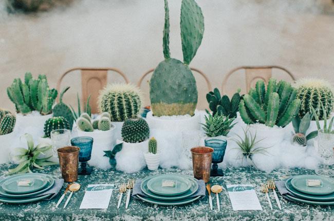 cactus tablescape