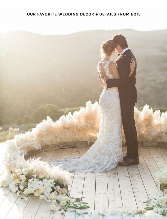 Top Wedding Details from 2015