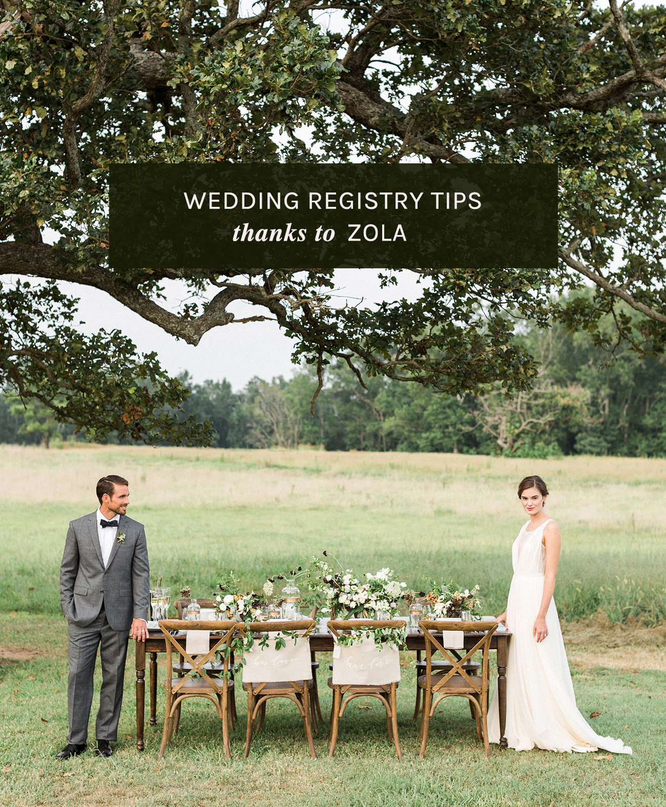 Wedding Registry Tips thanks to ZOLA