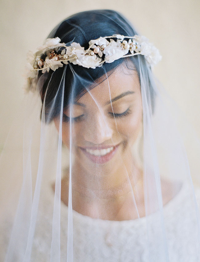 flower crown veil