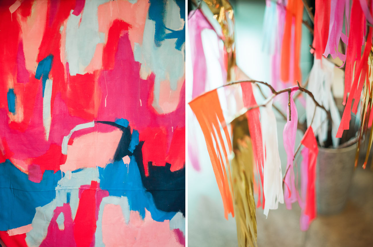 colorful painted backdrop
