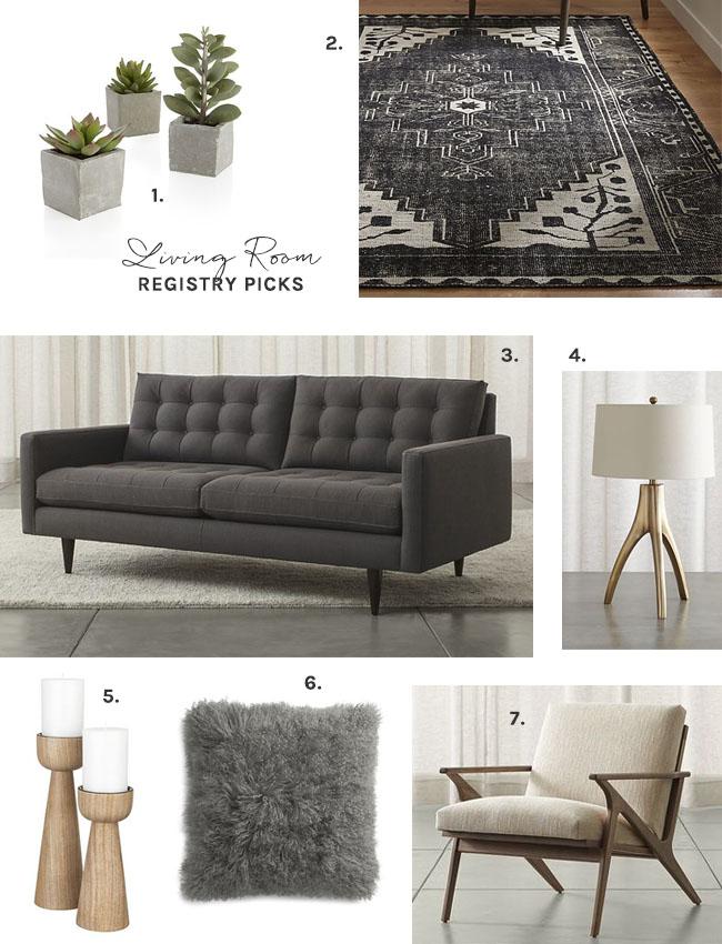 Crate & Barrel Living Room Picks