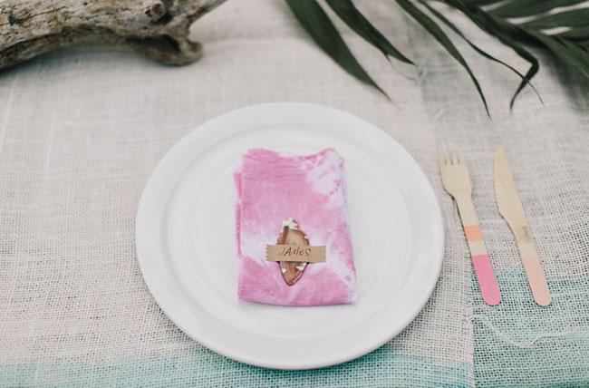 dyed napkins