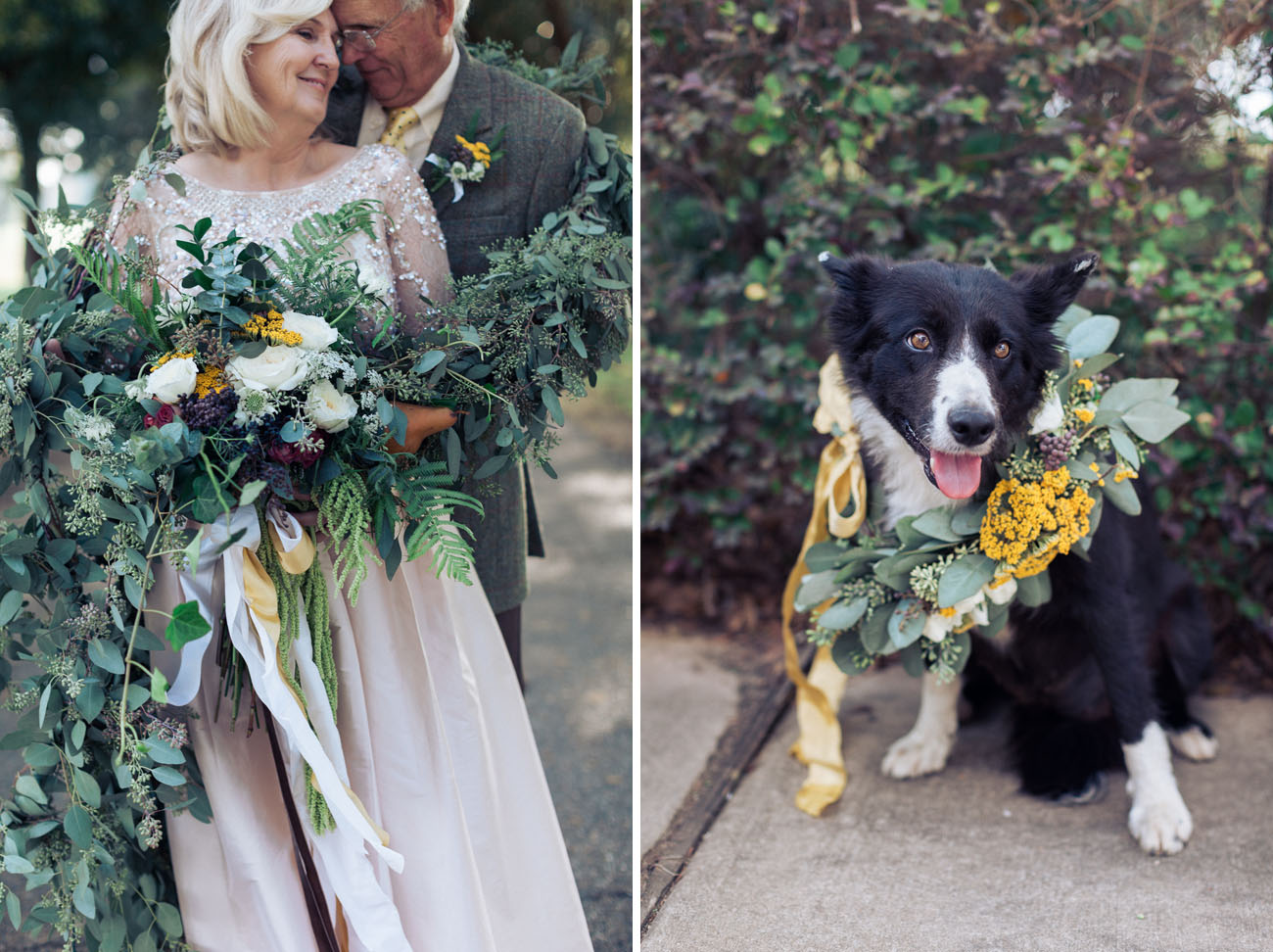 dog flower wreath