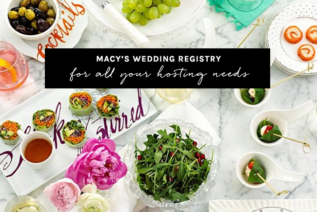 Entertain With Items From Your Macy's Wedding Registry
