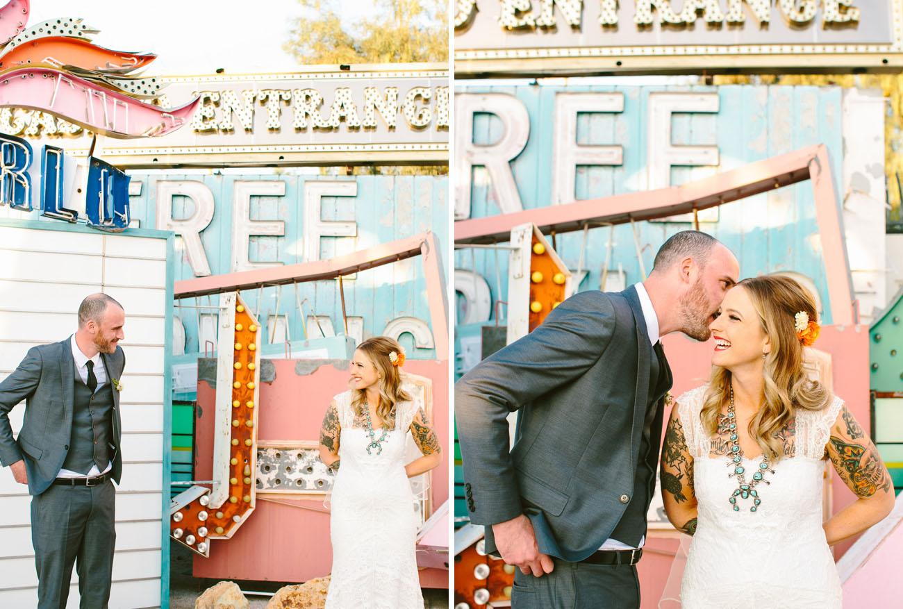Neon Graveyard Vegas Wedding