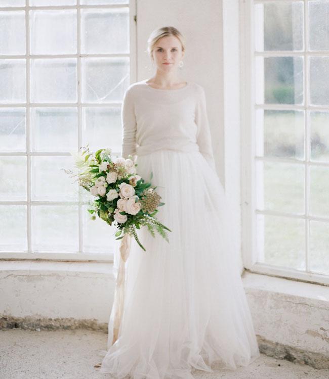 Sweater Wedding Dress 14 Lovely tulle skirt