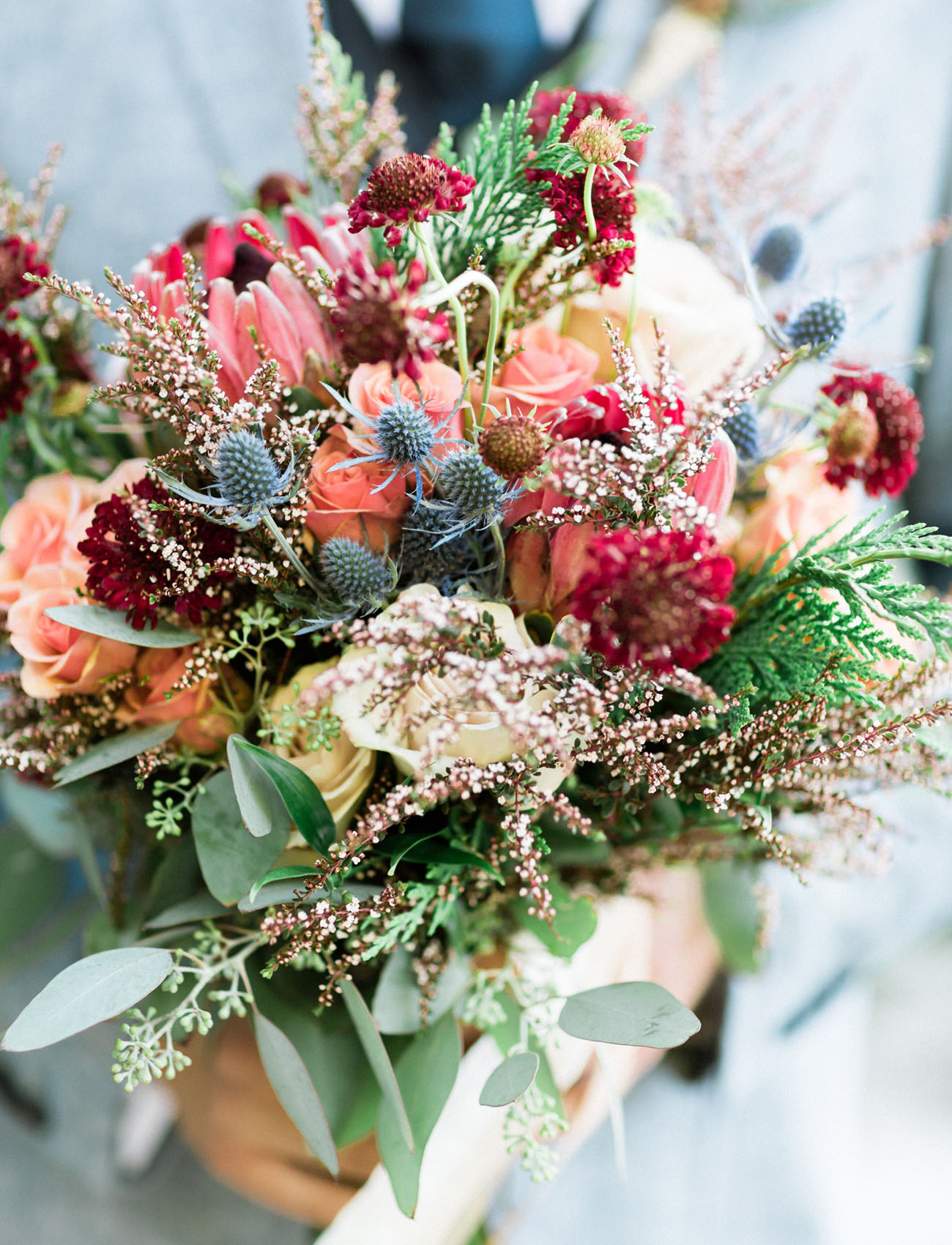 rustic pink bouquet