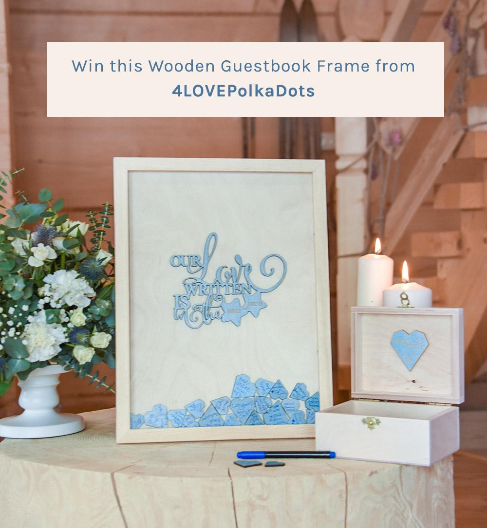 4lovepolkadots wooden guestbook frame