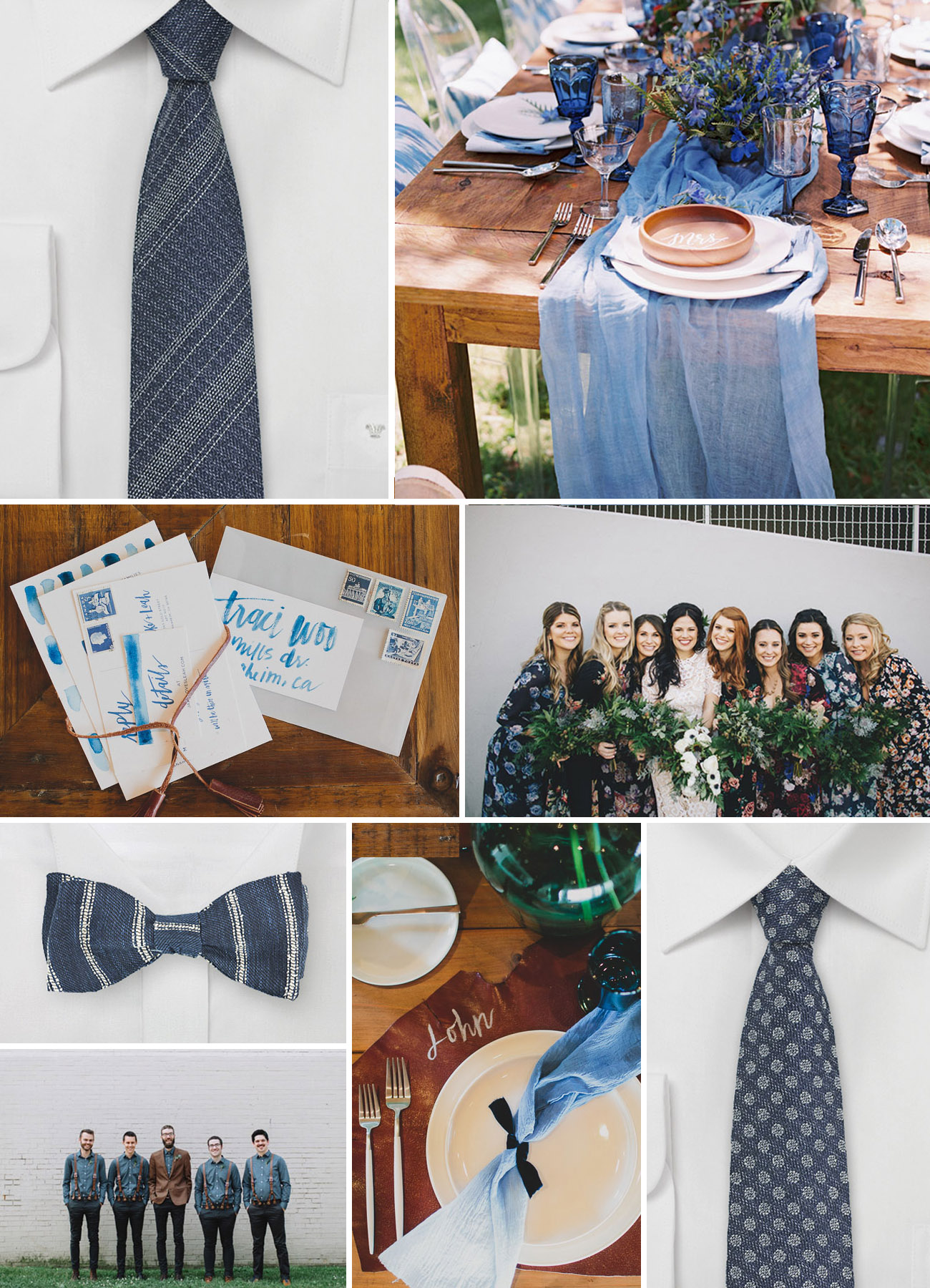 Bows N Ties denim mood board