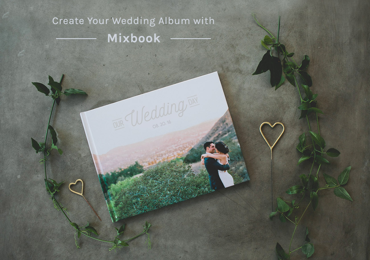 Create Your Wedding Album Cards with Mixbook Green Wedding Shoes