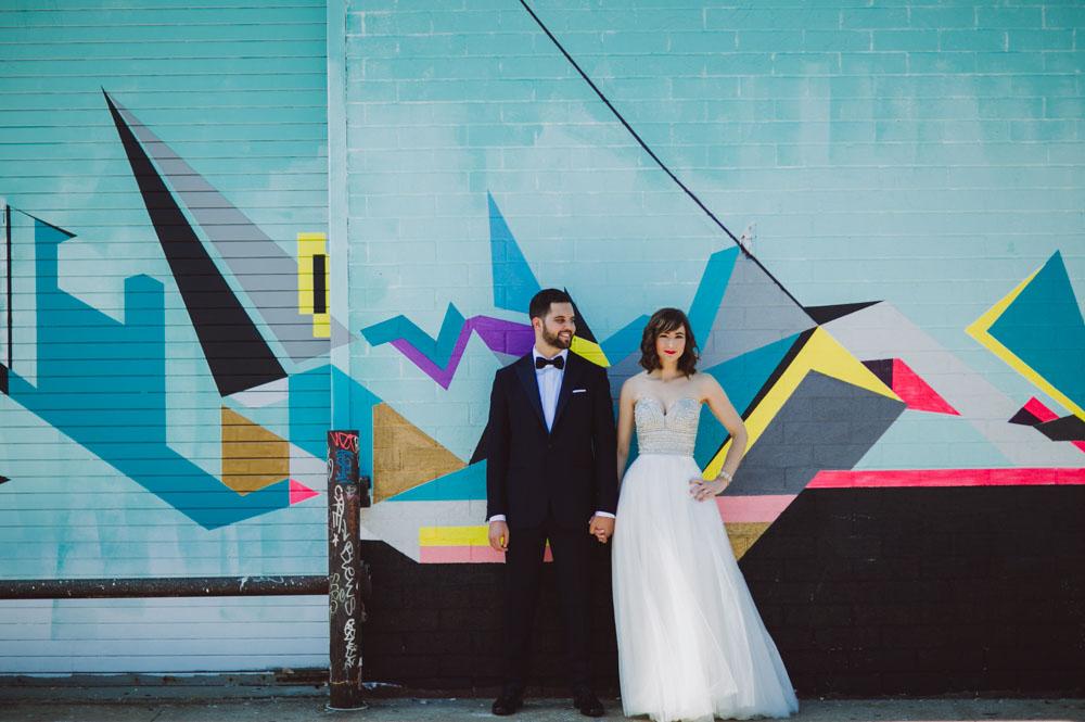 Colorful NYC Wedding