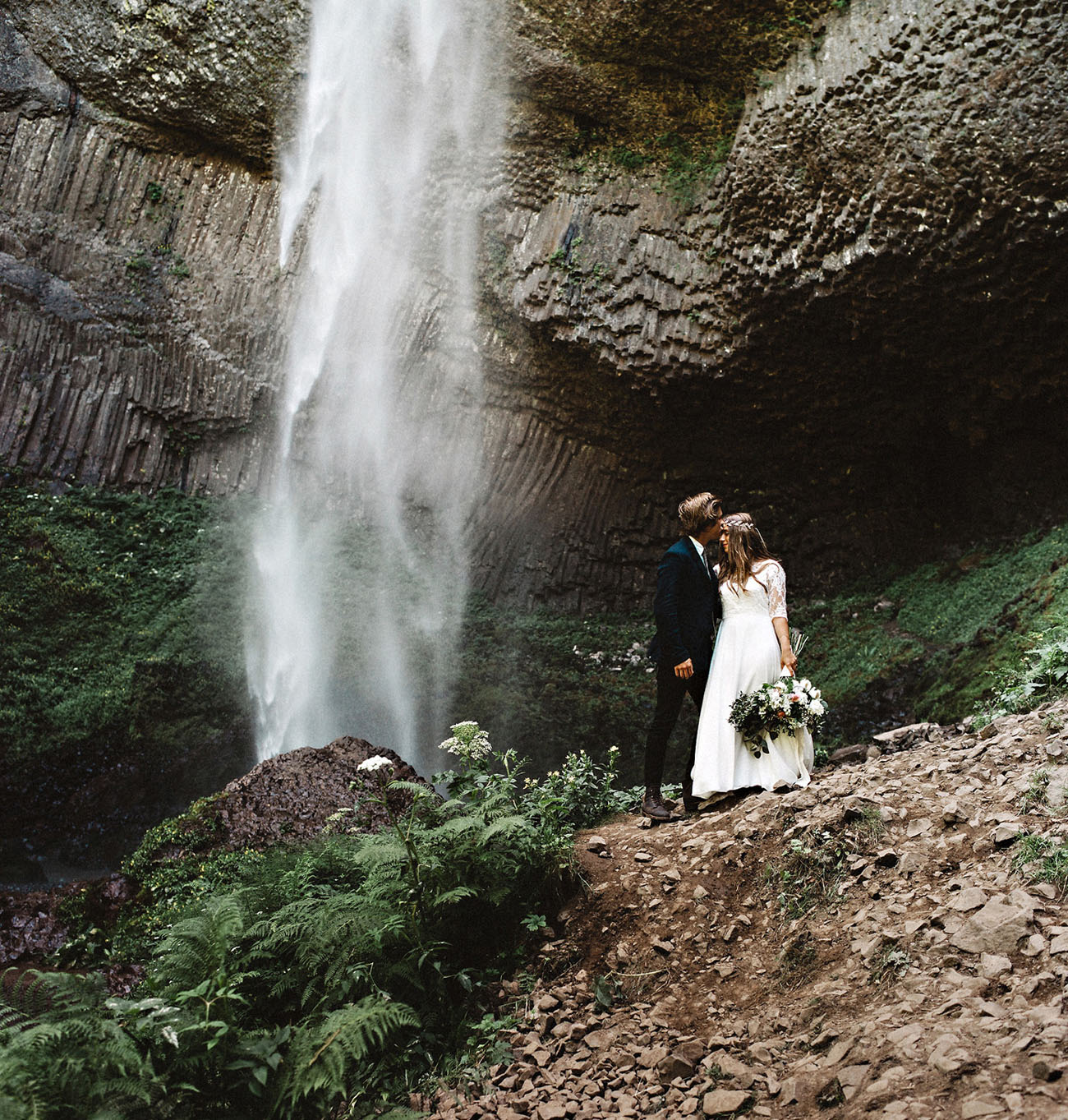 Waterfall Rustic Wedding