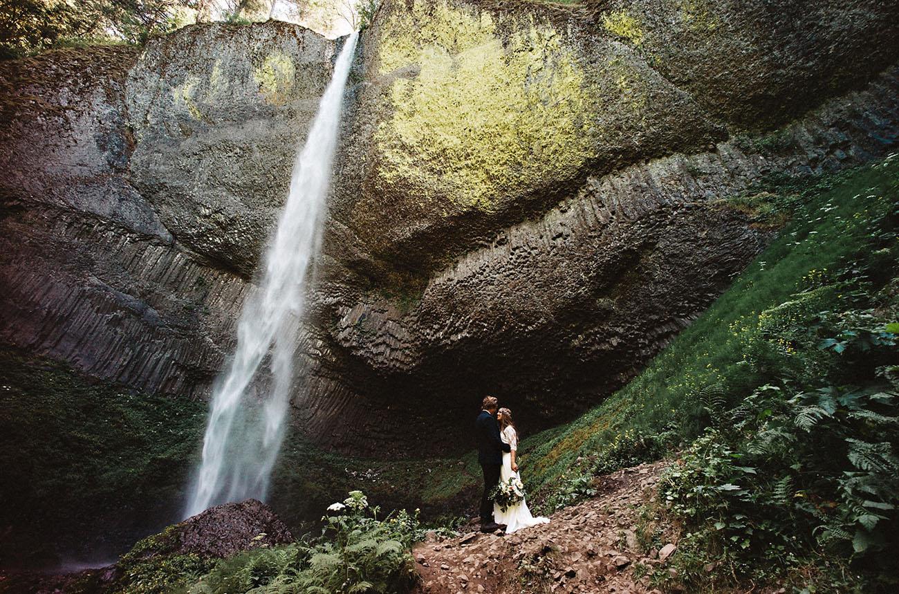 Waterfall Rustic Wedding