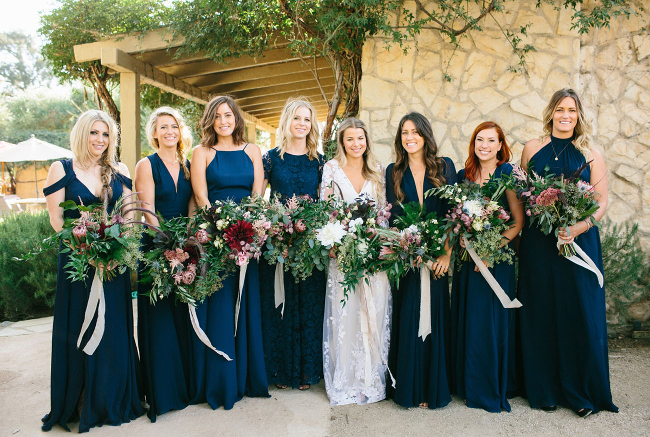 Green and navy wedding