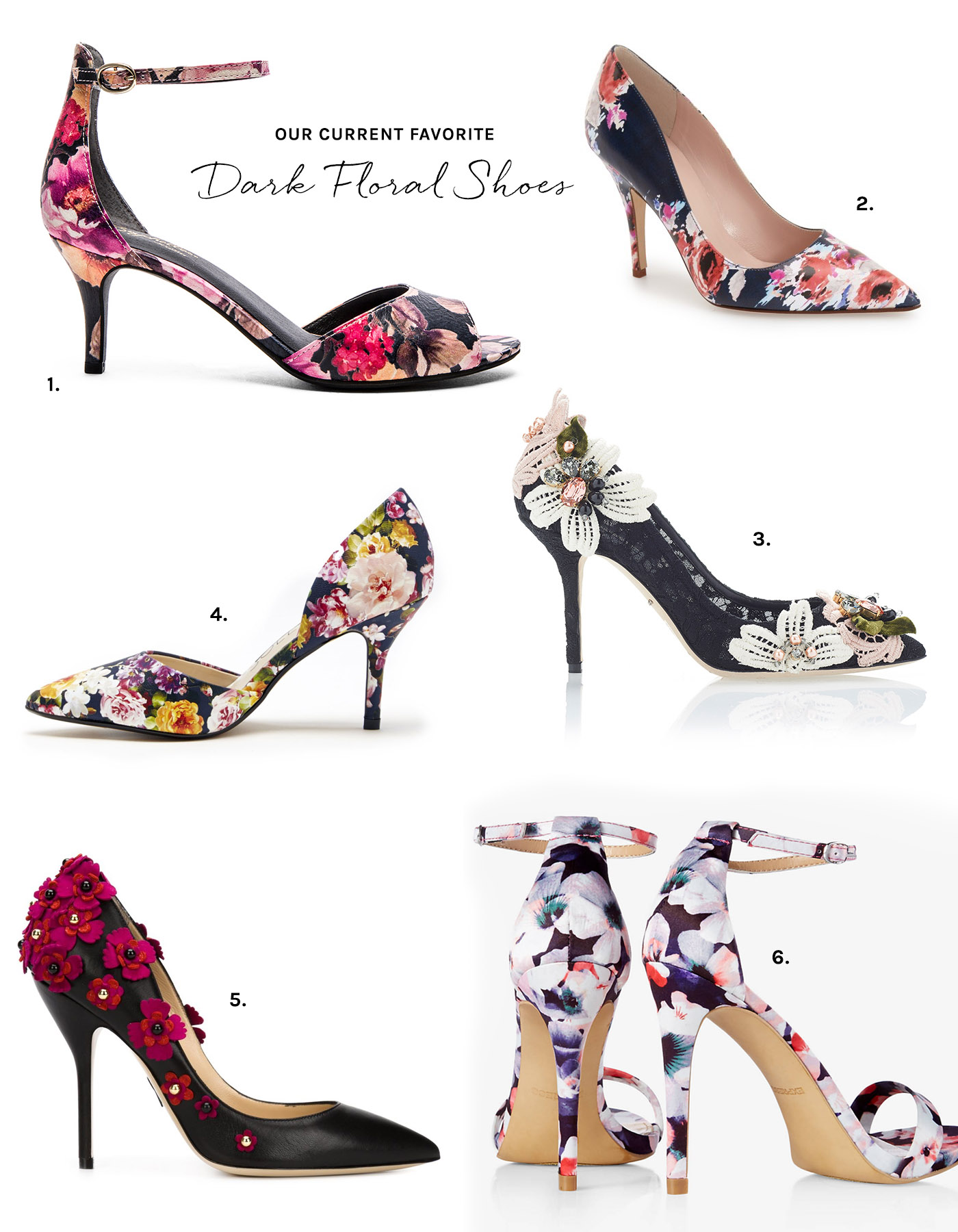 Dark Floral Shoes