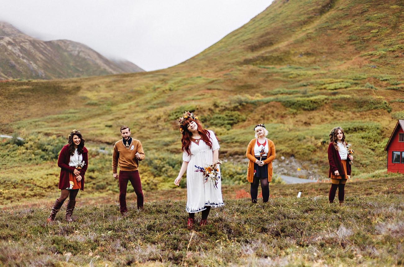 Eclectic Alaska Wedding