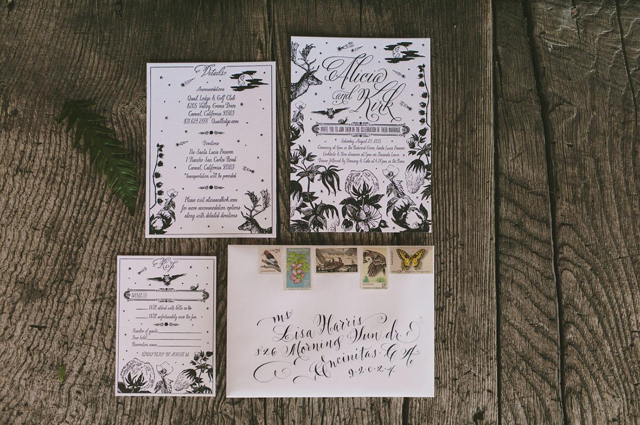 illustrated invitation
