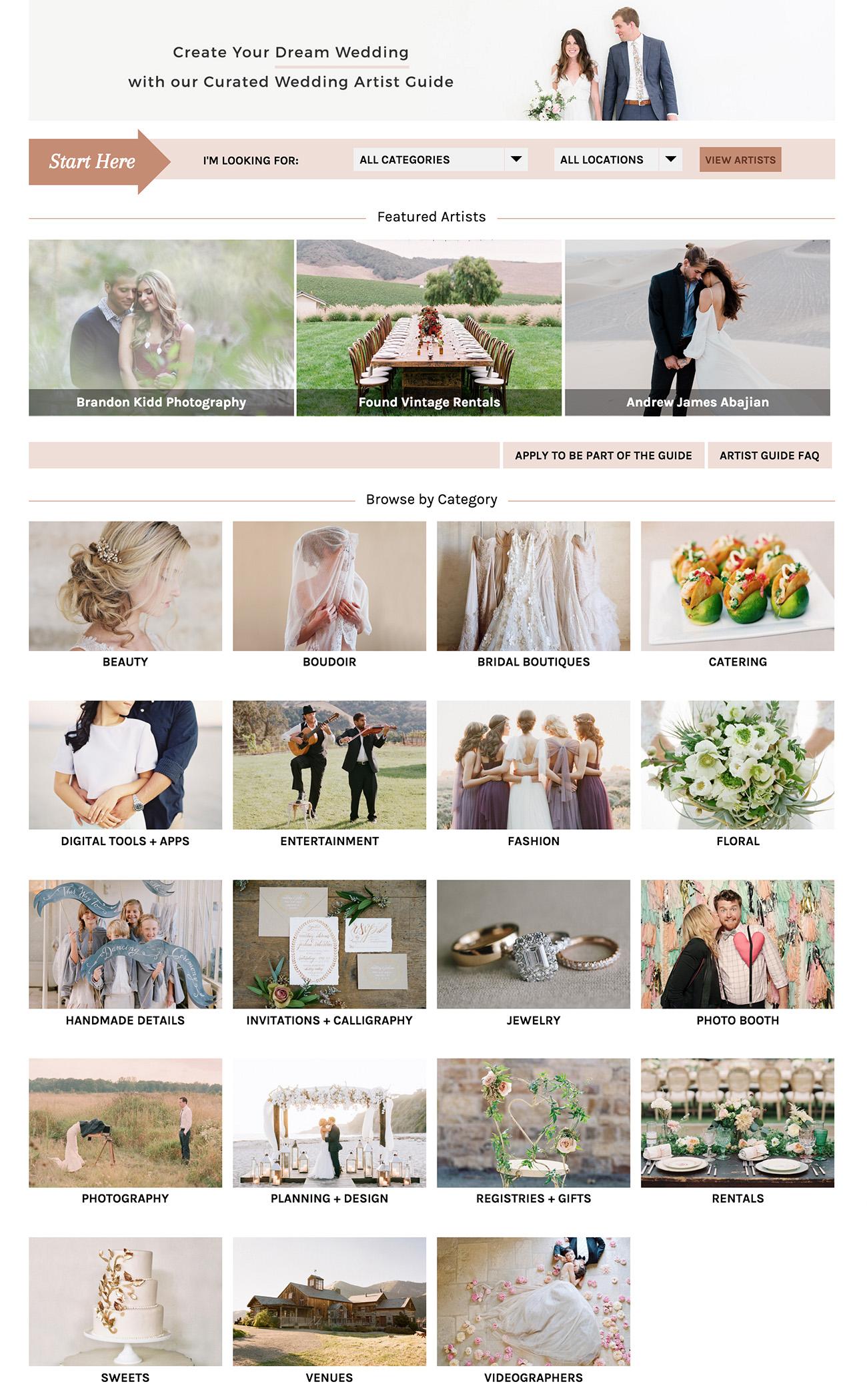 GWS Preferred Wedding Artist Gallery