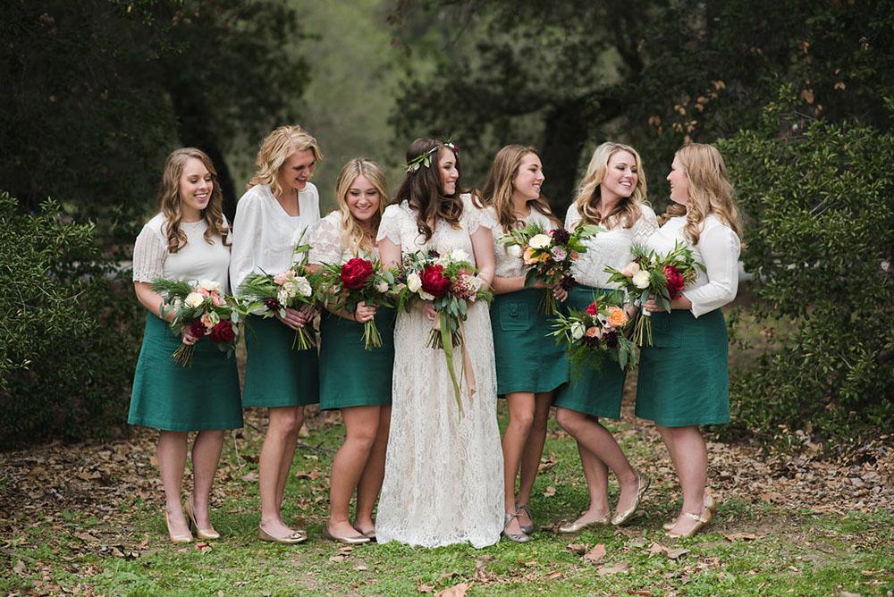 skirt bridesmaids