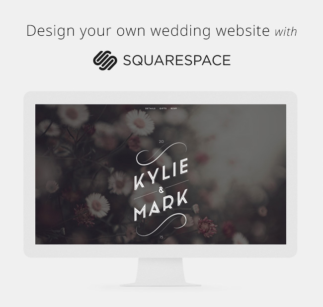 Design your wedding website with squarespace