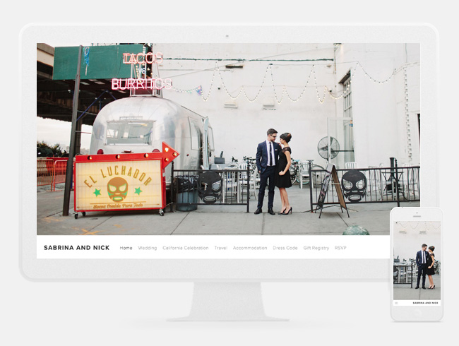Squarespace wedding
