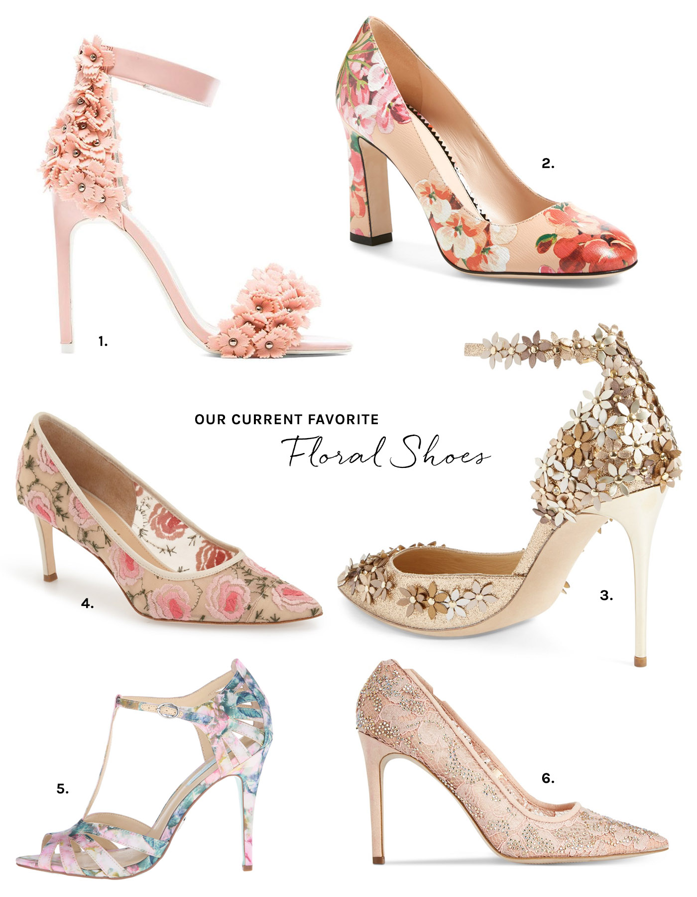 Floral Shoes for your wedding