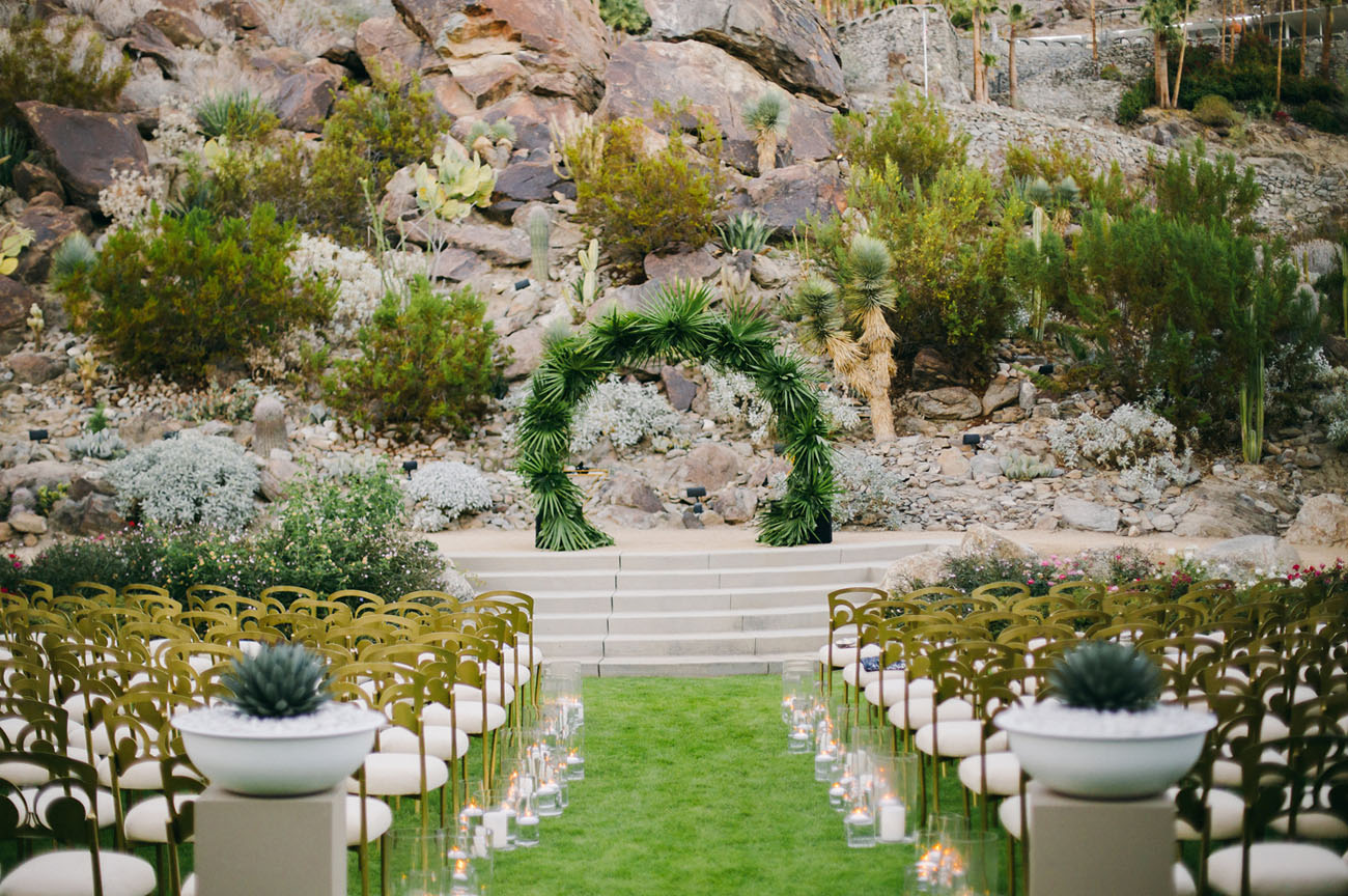 Whitney port tim rosenmans wedding green wedding shoes tropical altar such a perfect palm springs junglespirit Gallery