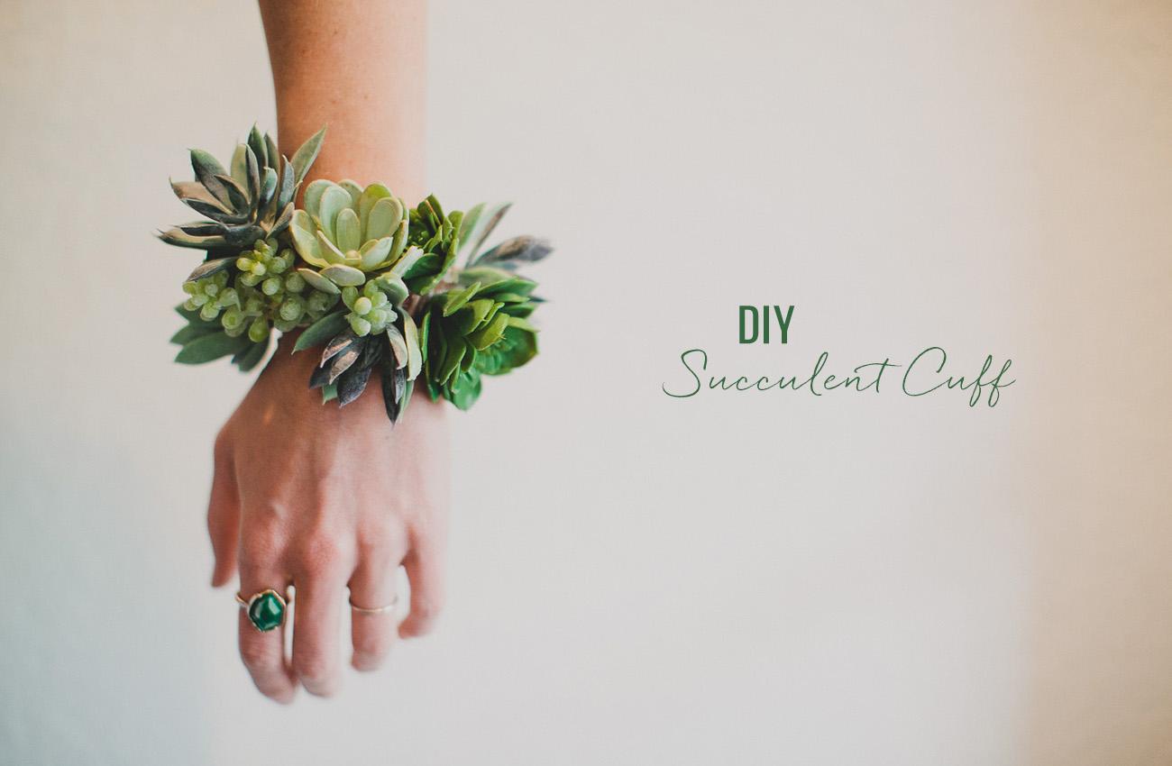 Diy Succulent Wrist Cuff Green Wedding Shoes