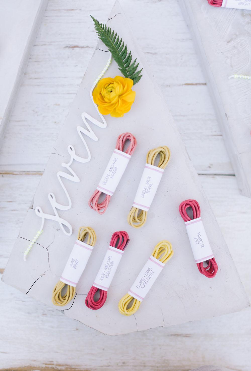 yarn escort card display