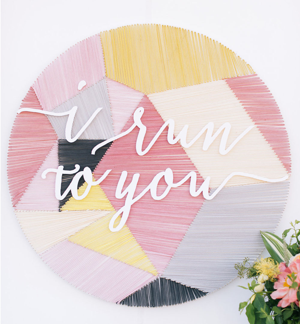 yarn escort card display