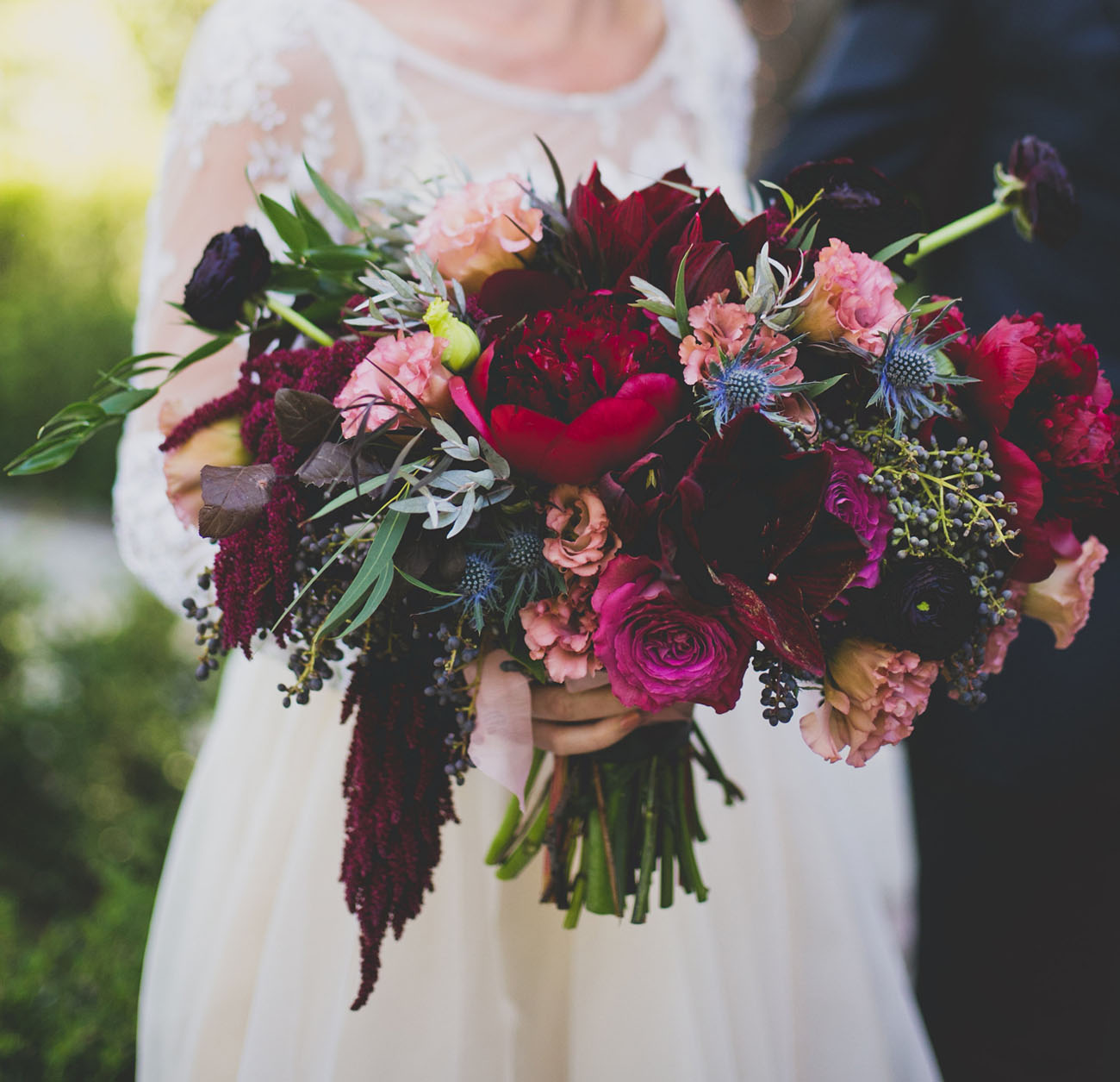 Bohemian black tie hollywood wedding lindsey saman - What are jewel tone colors ...