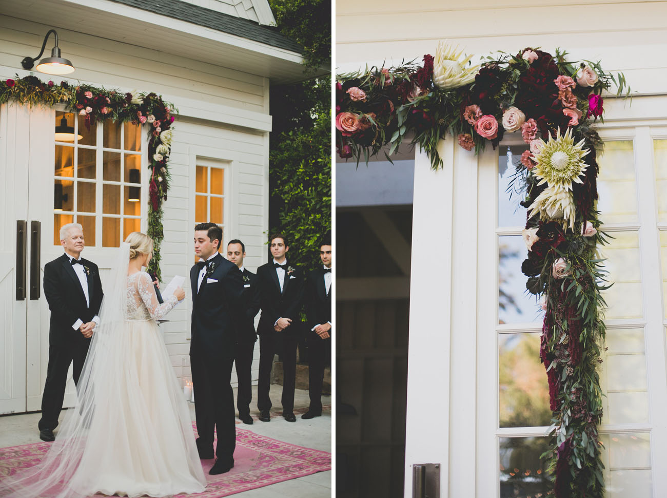 Boho Black Tie Wedding