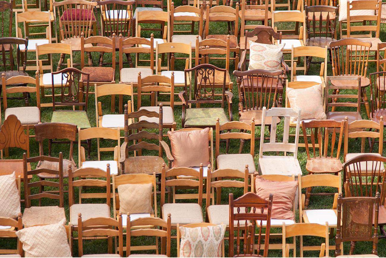 Wedding ceremony chair - Vintage Ceremony Chairs Estancia Boho Chic Wedding