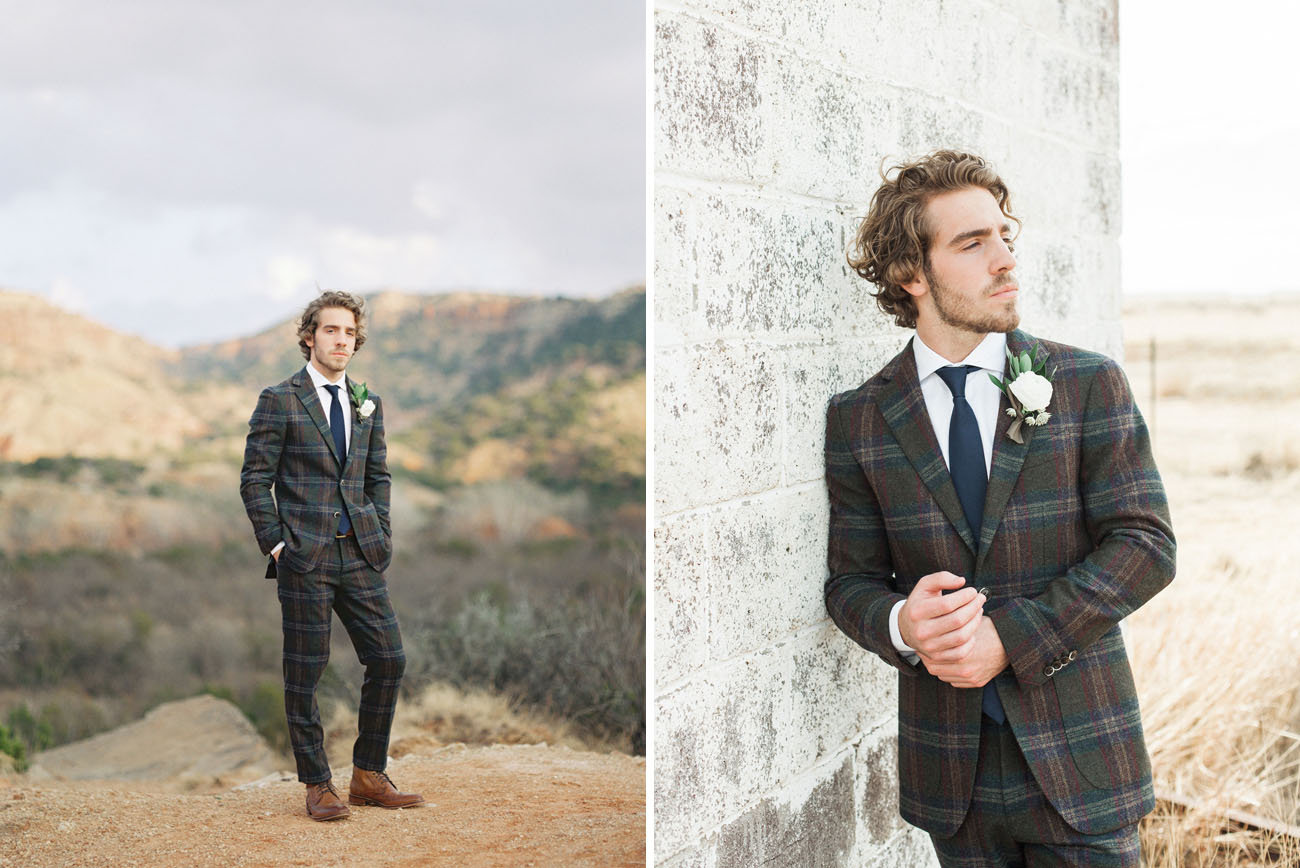 plaid groom
