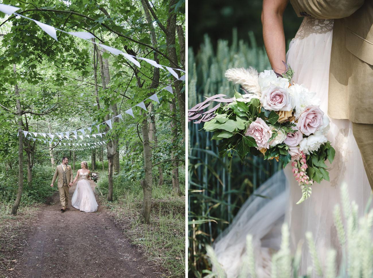 Boho Woodland English Wedding