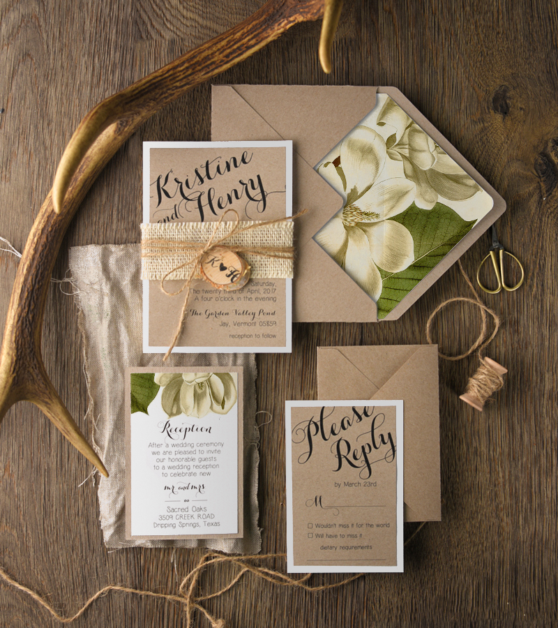 botanical wedding invitations from 4lovepolkadots | green wedding,