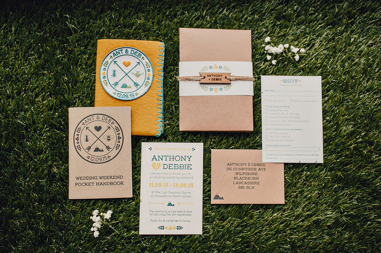 Camping Wedding Invitations: DIY Rustic Camping Wedding: Debbie + Anthony
