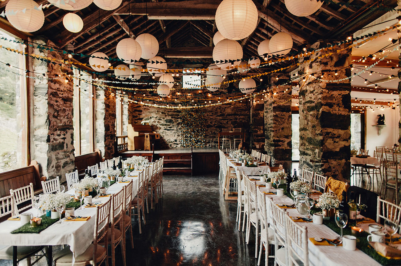 Diy rustic camping wedding debbie anthony green for Diy wedding reception ideas