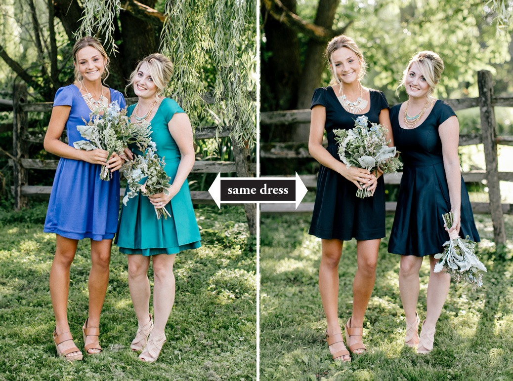 Rewearable 2 in 1 bridesmaid dresses from durga kali green durga kali ombrellifo Image collections