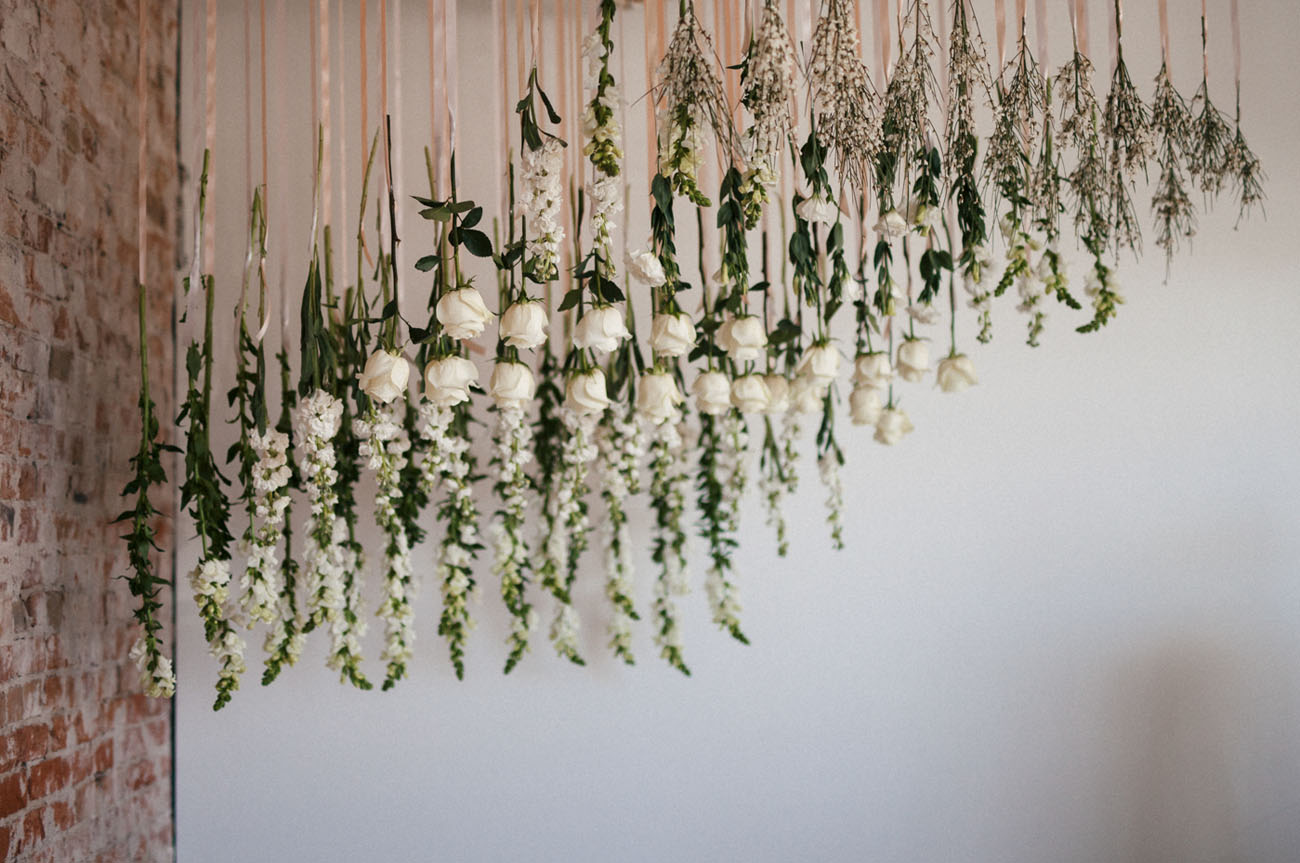 hanging floral backdrop