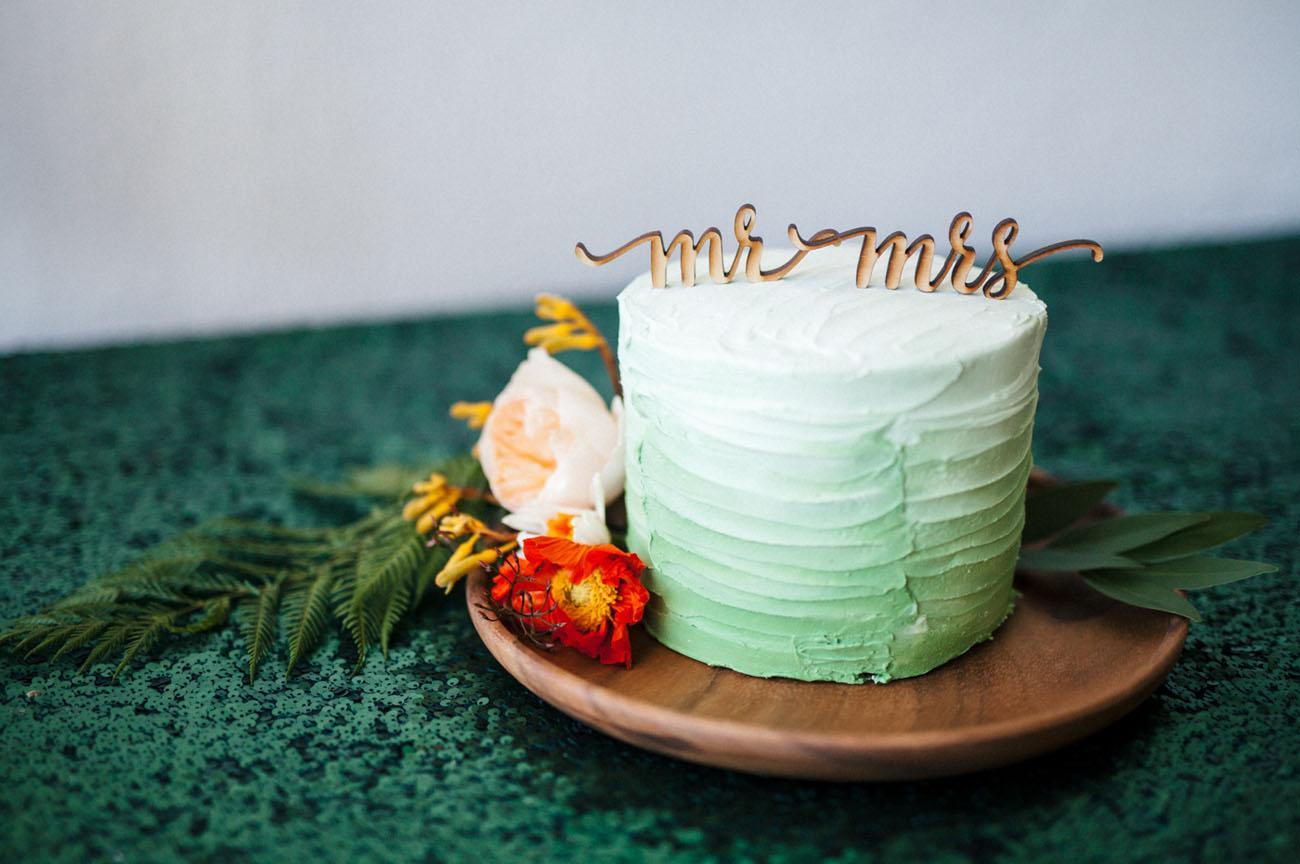laser cut cake topper